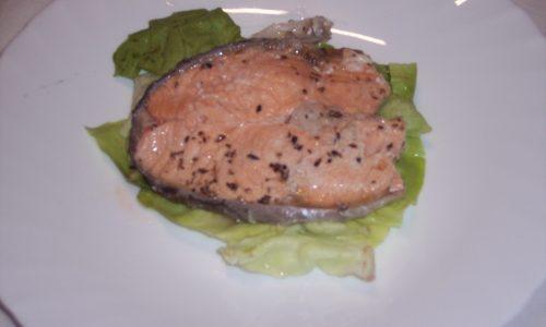 Salmone in tortiera