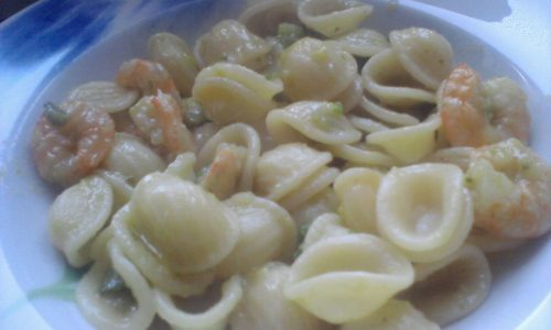 Orecchiette gamberetti e zucchine