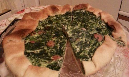 Torta brisè con ricotta e spinaci
