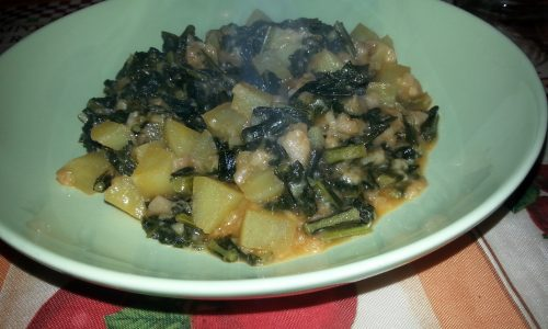 Zuppa di cavolo nero e patate
