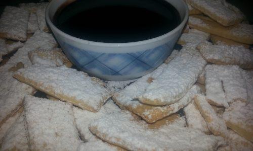 Chiacchiere biscottate al forno