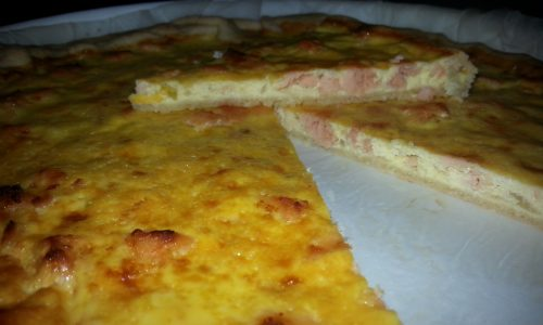 Quiche light al salmone