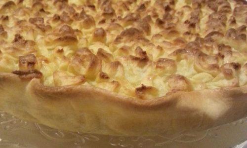Torta salata di briseè con patate e finghi