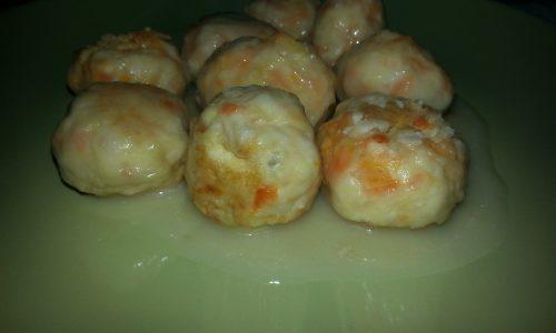 Polpettine di pollo e carote al limone
